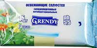 Салфетки влажные GRENDY 7 трав 15 шт 1/110