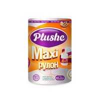 Полотенце бумажное Plushe Maxi 1 рулон, 2сл, 40м, белое 1/12