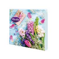 """Салфетки бумажные 33 Plushe """"Цветы с подарком"""" 3 слоя 18 листов 1/34"""