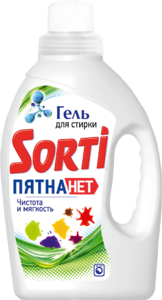 Гель для стирки Sorti Пятна нет 1200 гр 1/8
